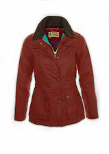 JOHN PARTRIDGE WOMENS BELL FITTED WAX JACKET RED OR OLIVE - BNWT 2014