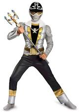 Child TV Show Power Rangers Super Megaforce Special Ranger Silver Muscle Costume