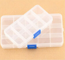 10 &15 COMPARTMENT ORGANISER STORAGE PLASTIC BOX LOOM BANDS CRAFT NAIL ART BEADS