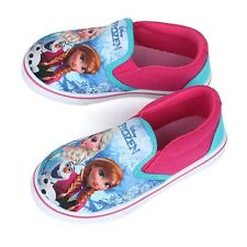 Disney Frozen Girls Canvas Slip-on Shoes. Anna Elsa Casual Kids Shoes. Pink