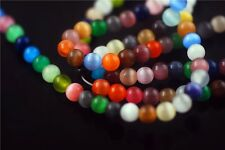 Bulk 6 8 10mm Round Colorful Glass Cat Eye Millefiori Jewelry Loose Beads Spacer