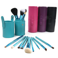 Pro 12pcs Makeup Brushes Set Cosmetic Brush & Cylinder Cup Holder 4 Color Gift