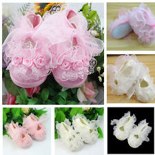 Stylish Non-Slip Newborn Shoes Baby Toddler Shoes With Beautiful Lace Pink White