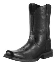 MEN ARIAT BLACK DEERTAN RAMBLER WESTERN COWBOY BOOT 10009591