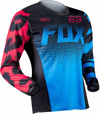 2015 Fox Racing Womens MX ATV Offroad Motocross 180 Jersey Black / Blue