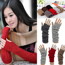 GREAT Winter Warm Fingerless Knitted Long Gloves Mitten Wrist Arm Hand Warmer