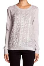 Christopher Fischer Isabel Sweater Silver Grey Silver Foil Top Shirt Cable Knit
