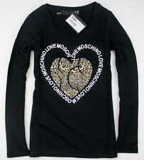 Love Lady's 19656 Moschino heart with leopard T-shirt/Top 3 Colors Size S/M/L/XL