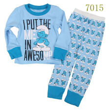 Baby boys'  Kids' Clothing Sleepwear Long T-shirt + pants Suit  Nightwear 7015UK