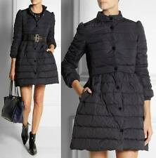 $895 Red Valentino Bow Quilted Puffy Taffeta Down Coat in Navy & PINK