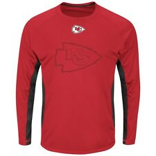 Kansas City Chiefs Majestic NFL Fan Fare VII Long Sleeve Performance Shirt - Red