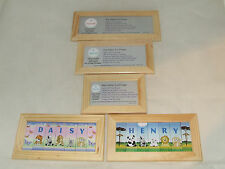 PERSONALISED NAME IN A FRAME WORLD OF ANIMALS BOYS - DOOR PLAQUE