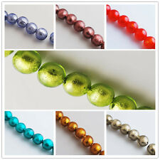 Colorful Lampwrok Glass Siler Foil Inside Beads Spacer Jewelry Finding Charm14mm