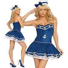 Sexy SEA SAILOR fancydress costume HALLOWEEN  or christmas PARTY navy themed