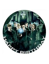 "7.5"" 19cm HARRY POTTER PERSONALISED EDIBLE FONDANT/WAFER RICE CAKE TOPPER"