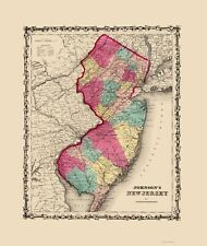 NEW JERSEY (NJ) BY JOHNSON AND BROWNING 1860