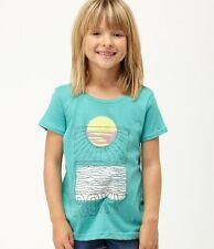 NWT Roxy Teenie Wahine Little Girls Hollywood Beach Summer Shirt, Top  SZ 4