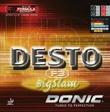 Donic  Desto F3 Big Slam   Rot / Schwarz 1,8 - max.mm