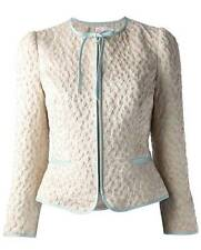 RED Valentino Rose Embroidered Satin Brocade Jacket