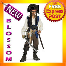 CK32 Boys Pirates of the Caribbean 4 - Captain Jack Sparrow Deluxe Child Costume