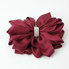 Handmade Multi Bow Pearl Flower French Barrette Clip