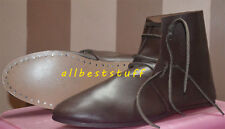 Medieval Leather Shoe Brown High Quality Medieval Leather boots