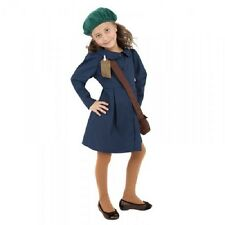 Girls WWII 1940s Evacuee Girl World War Two 2 Fancy Dress Costume Outfit