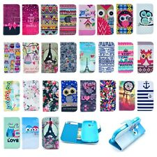 Chic Leather Wallet Card Rubber Cover Case Stand For Samsung Galaxy S Duos S7562