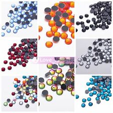 1440pcs SS20 5mm DMC Iron On Flatback HotFix Crystal Rhinestones Many Colors Lot