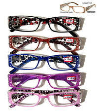 Fashion Reading Glasses w/Rhinestone Leopard Print Reader 125 150 200 225 275