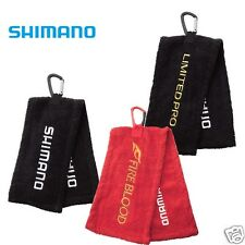 Shimano AC-010L 100% cotton soft Hanging hand fishing towel carabiner clipped