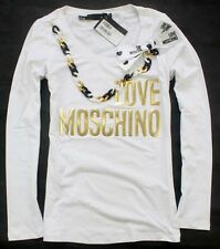 Love Lady's 18622 Bronzing Moschino words with chain Top 2Colors Size S/M/L/XL