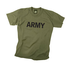 Kids USAR US Army PT Physical Training Olive Drab Green Short Sleeve T-Shirt