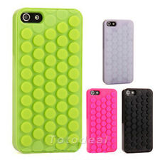 4 Colors Bubble Wrap Pop Design Fitted Case Cover Skin for Apple iPhone 5 5S
