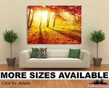 Wall Art Canvas Picture Print - Autumn Fall Park Trees 3.2