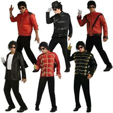 Michael Jackson Costume Jacket Adult 80s Pop Star Halloween Fancy Dress