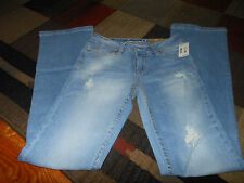 Aeropostale Chelsea Womens Juniors Distressed Low Rise Slim Fit Bootcut Jeans
