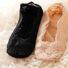 One Pair Fashion Lace Antiskid Invisible Liner No Show Peds Low Cut Socks