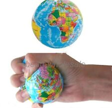 """1pc Funny Colorful Cute world map Sponge Ball Stress Relief Toy Baby Toy 3"""""""