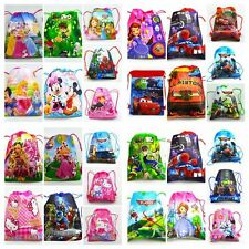 Cartoon image Drawstring Backpack Handbags waterproof camping bags 60 Colors