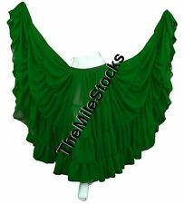 TMS E GREEN 25 Yard 4 Tier Skirt Belly Dance Gypsy Costume Troup Tribal JUPE