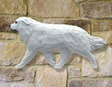 Great Pyrenees  Wooden Hand Carved Wall Art. Home, Living Room Dog Products