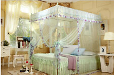 4 Corners Poster Canopy Bed Curtain Mosquito Net Twin-XL Full Queen King Size