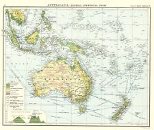 AUSTRALASIA GENERAL COMMERCIAL CHART BY GEORGE NEWNES LTD 1907