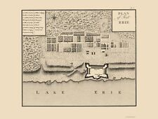 Old Canada Map - Fort Erie Ontario - Collot 1796 - 23 x 30.45