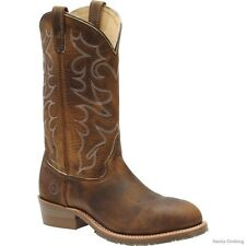 MENS DOUBLE H 12 INCH STEEL TOE WESTERN COWBOY WORK BOOT DH1592