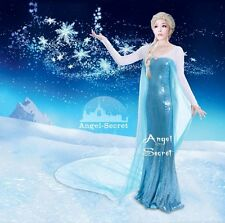 FP126 Movies Frozen Snow Queen ELSA Cosplay Costume Dress tailor HANDMADE CUSTOM