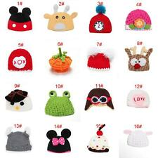 Winter Warm Unisex Baby Knitted Crochet Cartoon Hat Cap Beanie Photography Props