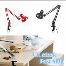 Flexible LED Clip on Lamp Swing Arm Clamp Home Beside Reading Desk Table Light