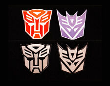 TRANSFORMERS LOGO AUTOBOT DECEPTICON EMBROIDERED VELCRO PATCH